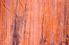 抽象墙壁关闭的片段铁锈 免版税库存照片