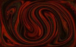 抽象墙纸红色波浪漩涡转动背景 免版税库存照片