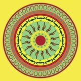 抽象墨西哥圆的背景 免版税库存照片