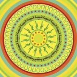 抽象墨西哥圆的背景 图库摄影