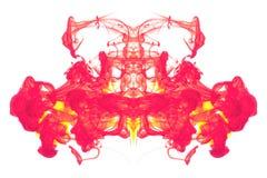 抽象墨水红色黄色 库存图片