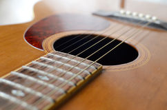 抽象声学吉他 免版税库存图片