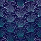 抽象壳无缝的样式 免版税库存图片
