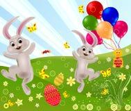 抽象复活节兔子向量 图库摄影