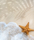 抽象夏天海滩沙子背景 免版税库存图片