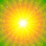 抽象夏天阳光背景 免版税库存照片