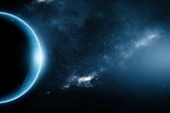 抽象外面地球空间星云 库存图片