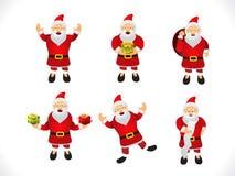 抽象多个圣诞老人象集合 免版税库存图片
