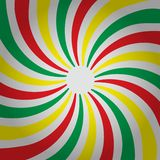 抽象多彩多姿的三种颜色镶边螺旋扭转的背景 o 皇族释放例证