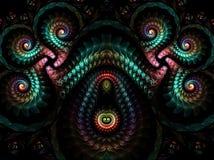 抽象多彩多姿的分数维样式 计算机生成的图象 库存图片