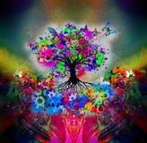 抽象多彩多姿的树 皇族释放例证