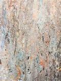 抽象多彩多姿的水彩绘了在微妙的灰色和棕色颜色的背景 库存例证