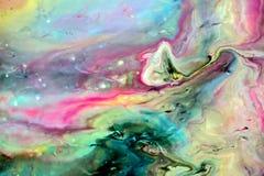 抽象多彩多姿的油漆背景 与大理石样式的丙烯酸酯的纹理 ?? o : 库存图片