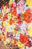 抽象多彩多姿的点彩派画家绘画-花花束  向量例证