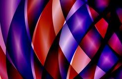 抽象多彩多姿的被遮蔽的波浪背景,墙纸,例证 向量例证