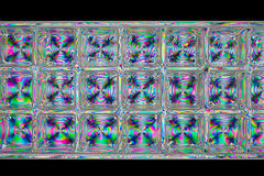 抽象多维数据集作用模式荧光的彩虹 免版税库存照片