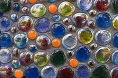 抽象多背景球色的玻璃 库存照片