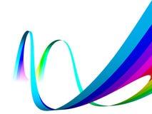 抽象多色彩虹 库存照片