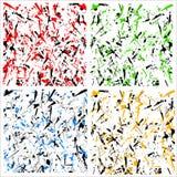 抽象多色样式/纹理与疏散锋利形状 库存图片