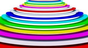 抽象多色环 图库摄影