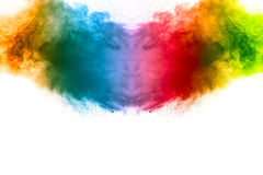 抽象多色的粉末爆炸 免版税库存图片