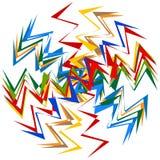 抽象多色,呈杂色的例证 五颜六色的设计eleme 免版税库存照片