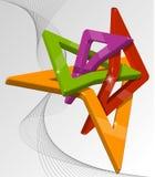 抽象多色3d形状 库存照片