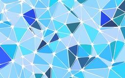 抽象多角形三角蓝色背景 免版税库存图片