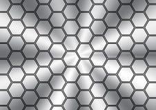 抽象多角形不锈的纹理 皇族释放例证