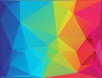 抽象多角形光谱背景 库存照片