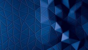 抽象多角形几何背景蓝色颜色 免版税库存照片