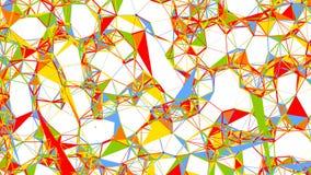 抽象多角形分数维结构, 3d回报 免版税库存照片