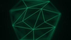 抽象多角形固体 3D图表相关行动背景 向量例证