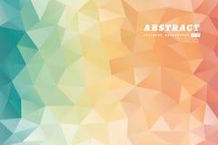 抽象多角形多彩多姿的背景 向量例证