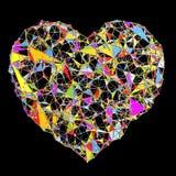 抽象多角形心脏形状 免版税库存图片