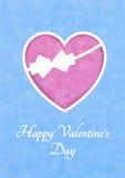 抽象多角形心脏 在桃红色背景裁减的红色origami心脏 也corel凹道例证向量 浪漫背景为情人节 免版税图库摄影