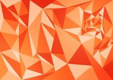抽象多角形桔子背景 库存图片