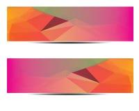 抽象多角形横幅设计 库存照片