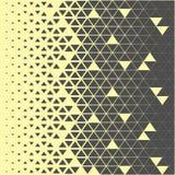抽象多角形深灰和黄色图表三角样式 免版税库存图片
