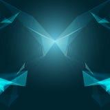 抽象多角形空间蓝色背景 免版税库存图片