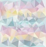 抽象多角形纹理淡色颜色 免版税图库摄影