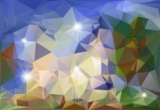 抽象多角形背景 免版税库存照片