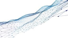 抽象多角形背景 3D回报了在透视的表面 免版税图库摄影