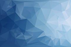 抽象多角形蓝色口气背景 免版税库存照片
