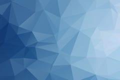 抽象多角形蓝色颜色背景 免版税库存图片