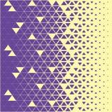 抽象多角形紫罗兰色和黄色图表三角样式 免版税图库摄影
