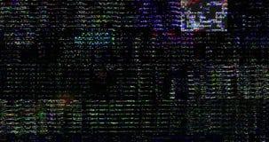 抽象多闪烁颜色现实屏幕的小故障,损坏老电影作用,与坏干涉的模式葡萄酒电视信号 股票视频