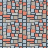 抽象大卵石砖无缝的样式纹理 库存照片