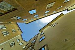 抽象大厦萨尔茨堡 免版税库存照片