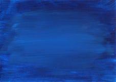 抽象大气蓝色被绘的抽象背景 免版税库存图片